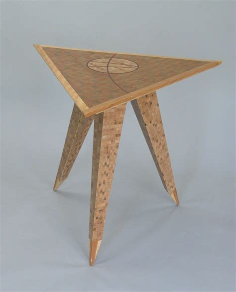 wood side table plans home design ideas furniture unique wood triangle top end table with tapered
