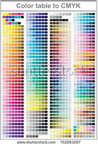pantone color test color print test page illustration cmyk stock vector