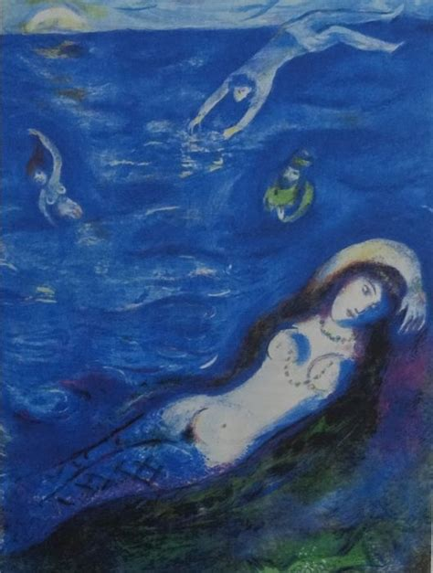 marc chagall so i came forth of the sea and sat down on the edge of an island in the moonshine
