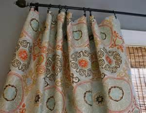 Aqua And Orange Curtains Claridge Jacquard Rosella Mango Custom By Stitchandbrush