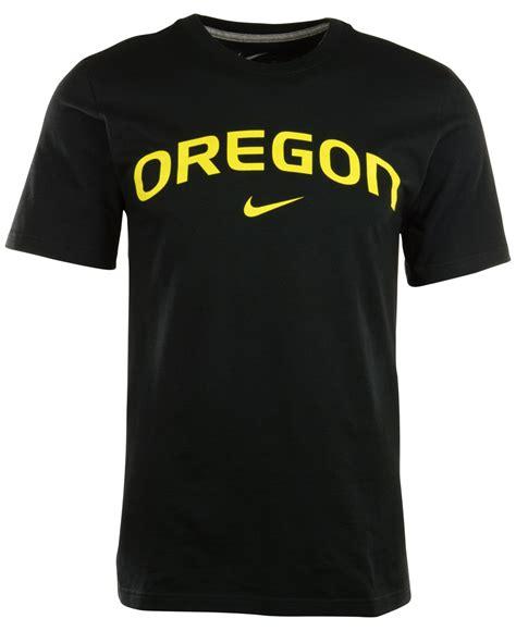 T Shirt Oregon Bracketville Nike by Lyst Nike S Oregon Ducks Wordmark T Shirt In Black