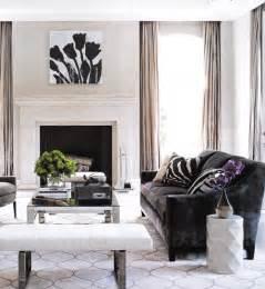 living room accents dark brown velvet sofa transitional living room elle