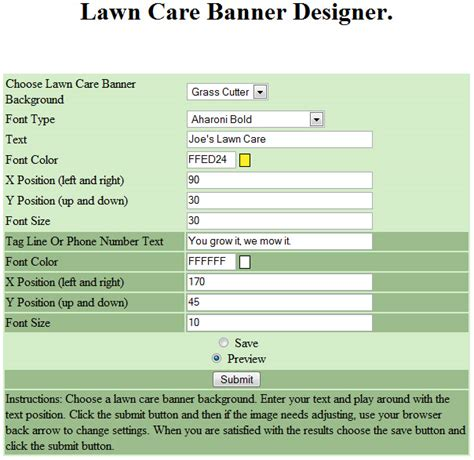 Free Printable Lawn Care Contract Form Generic Lawn Care Bid Template