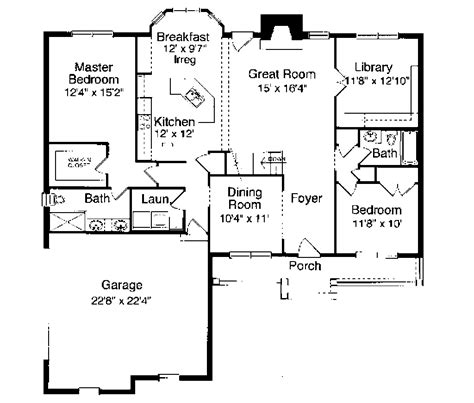 1700 square feet southern style house plan 3 beds 2 baths 1700 sq ft plan