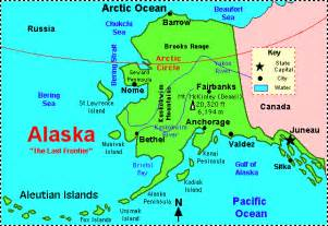 us map w alaska alaska facts map and state symbols enchantedlearning