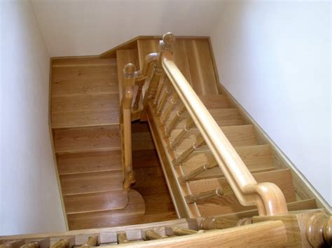 quarter landing stairs white oak u shape stairs with 2 quarter landings boyle joinery