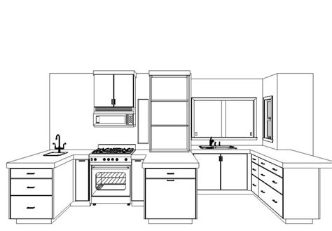 How To Layout A Kitchen Design Simple Kitchen Drawing Simple Kitchen Drawing Best Interior With Regard To Simple Kitchen