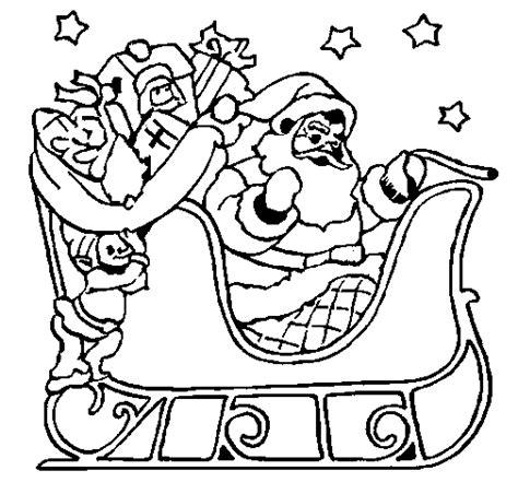dibujos colorear papa noel az dibujos para colorear dibujo de papa noel en su trineo para colorear dibujos net
