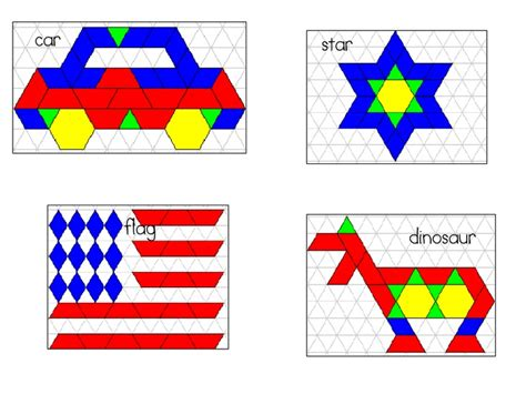 pattern blocks in kindergarten 71 best images about kids shapes printables activities on