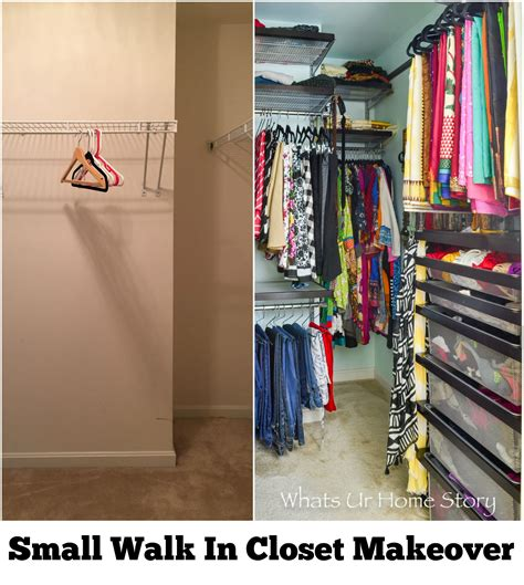 Walk In Closet Makeover by Small Walk In Closet Makeover Whats Ur Home Story