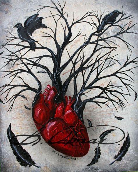 tattooed heart original artist raven heart and originals on pinterest