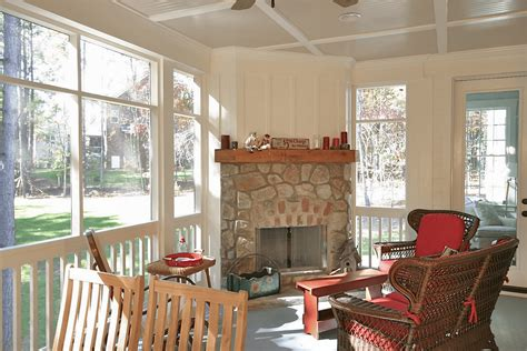 screened in porch designs with fireplace how much does it to have screened in porch with