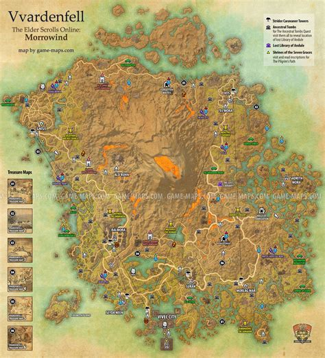 morrowind map vvardenfell map eso morrowind the elder scrolls maps