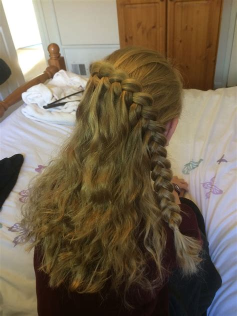 waterfall braid boys and 17 best images about my hairstyles on half up
