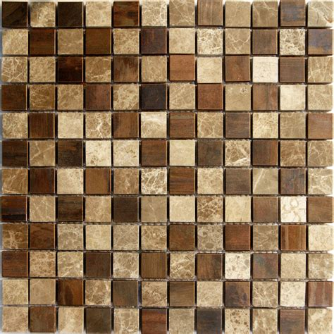 1sf emperor marble copper metal blends mosaic tile kitchen