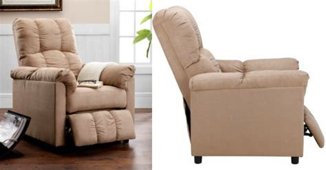 slimline recliners dorel living slim recliner in beige just 115 21 at walmart