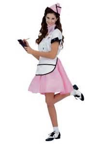 halloween costumes waitress womens 50s soda pop costume