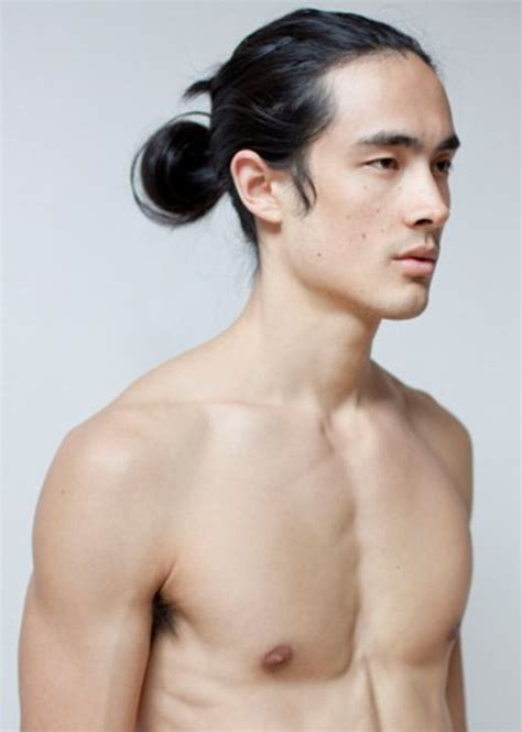 pictures of asian men long hairstyles ponytail top style