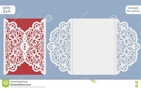 Cut Out Card Templates Free laser cut wedding invitation templates yourweek