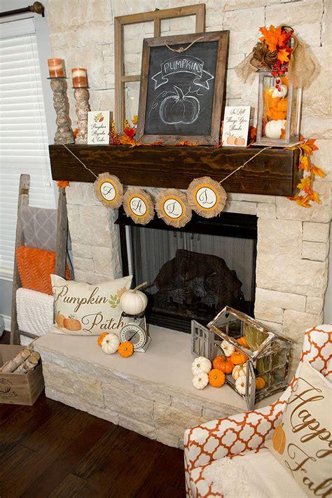 Fall Mantel Decorations, 3 Ways   Hoopla Events   Krista O