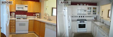 Kitchen Cabinet Refacing Ideas Refacing Kitchen Cabinets Before And After