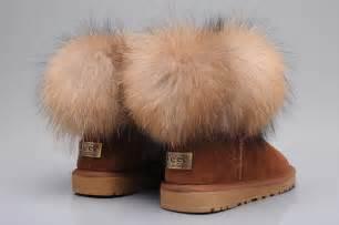 Burgundy Duvet Womens 5854 Chestnut Ugg Fox Fur Mini Sheepskin Fox Boots