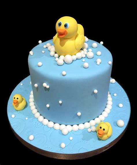Rubber Duckie Baby Shower Cake by Sugarbabies Custom Baby Shower Cake Gallery Pictures
