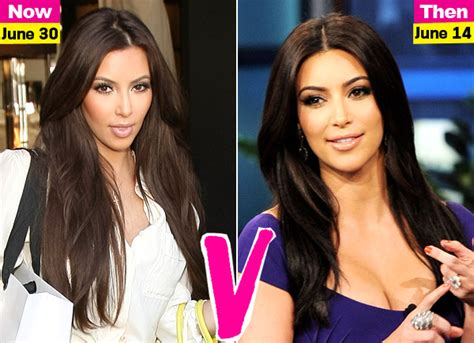 see all the kardashian jenners with long vs short hair kim kardashian is back to her super long locks which way