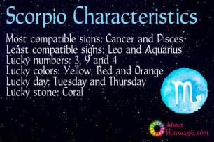 scorpio traits personality and characteristics