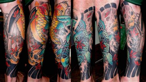 tattoo expo gettysburg sasha67 koi and skuls maples legs skulls koi japanese