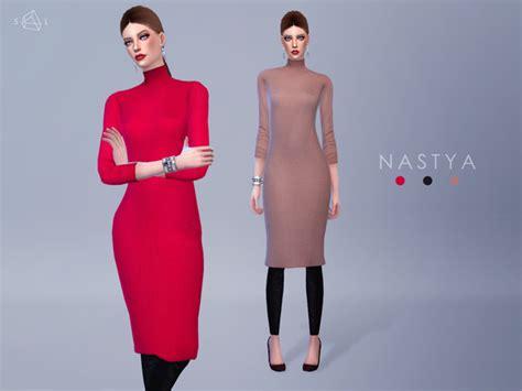Longdress Kasandra sweater nastya by starlord at tsr 187 sims 4 updates