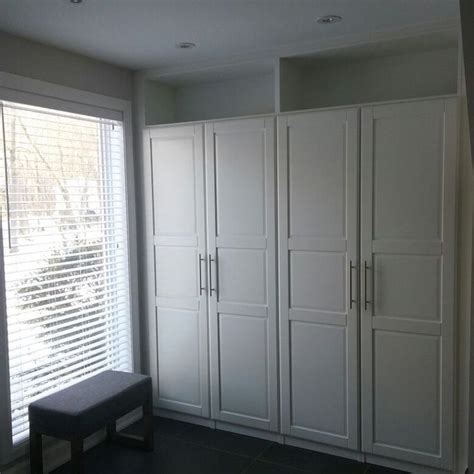 Ikea Fitted Cupboards - ikea pax wardrobes cleverly built in with top shelves