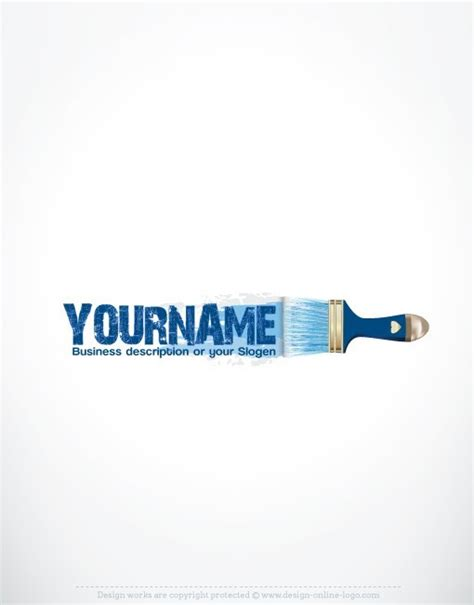design logo in paint exclusive design art paint brush logo compatible free