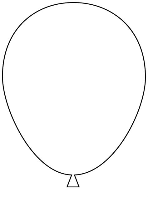 Balloon Template balloon template printable az coloring pages