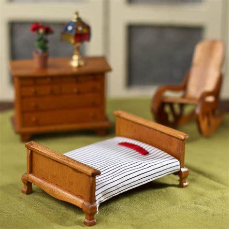 dollhouse bed for wood dollhouse miniature bed what s new dollhouse miniatures doll supplies craft