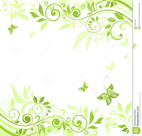 Floral In Green green wedding borders www pixshark images