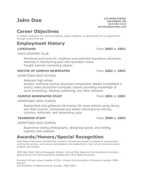 resume exles for teenagers resume template health symptoms and cure