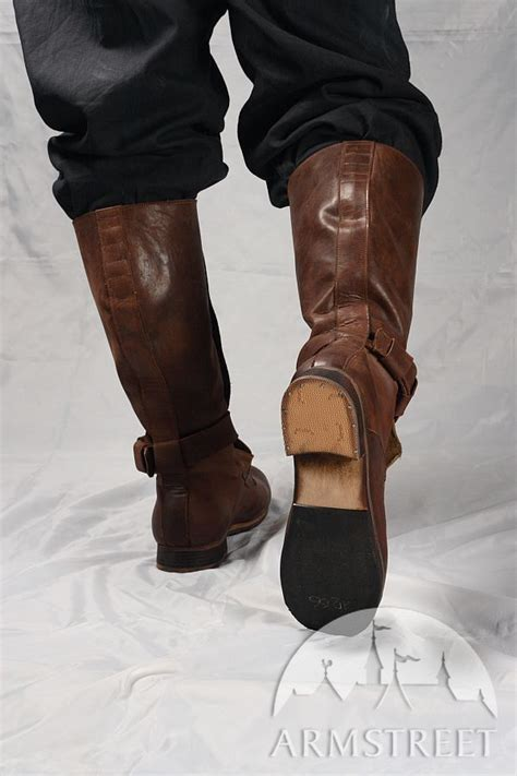 sca boots renaissance high leather boots for sca and reenacment for