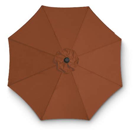 9' Aluminum Pole Crank / Tilt Patio Umbrella, Henna