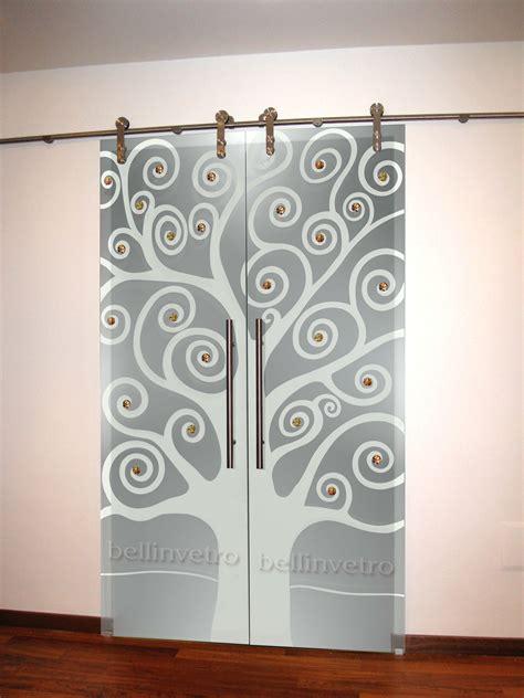 porte a vetro decorate porte in vetro decorate per interni scorrevoli a