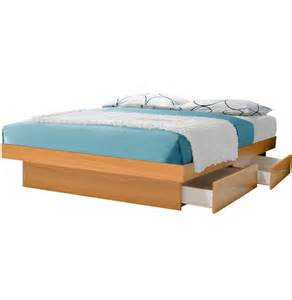 Cal King Platform Bed With Drawers California King Platform Bed With 4 Drawers Contempo Space