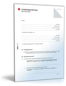 Muster Schenkungsvertrag Schweiz Schenkungsvertrag Auto Muster Als Pdf Doc Zum