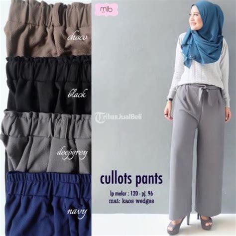 Kaos Atasan Plus Celana Cewek celana panjang cewek cullot bahan kaos wedges 4