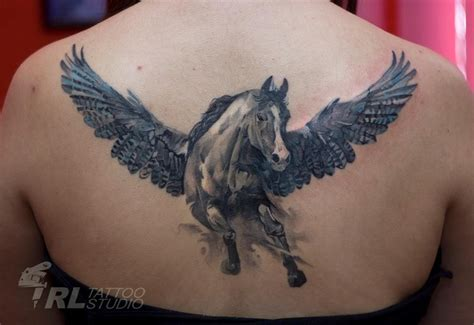 get a pegasus tattoo but on my lower back and not