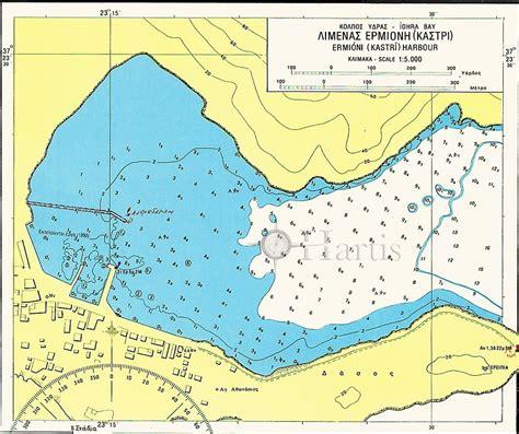 Setelan Kastri Navy A anchorages of argolikos and hydra gulfs nautical chart hartis org sailing guides charts