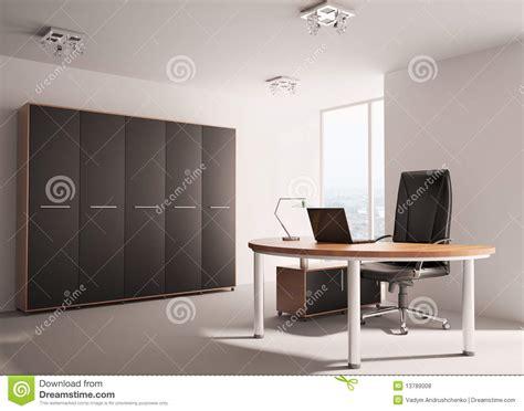 Moderne Bureau Binnenlandse 3d Royalty Vrije Stock Foto S Bureau Moderne
