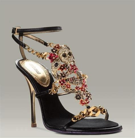 skull high heel shoes kicks