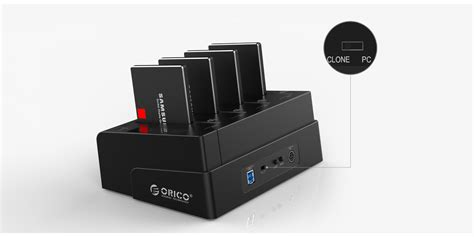 Orico Usb 30 1 Bay 2535 Ssd Hdd Station 8618us3 Bl built in new clone technology orico 6648us3 c copies data without connecting computer