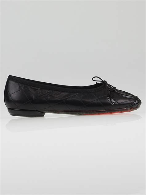 Chanel Quilted Ballet Flats by Chanel Black Quilted Leather Cambon Ballet Flats Size 6 5 37 Yoogi S Closet