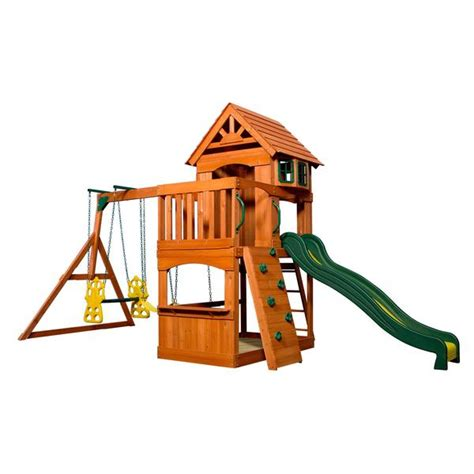 atlantis wooden swing set playsets backyard discovery